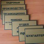 таблички для офиса на дверь